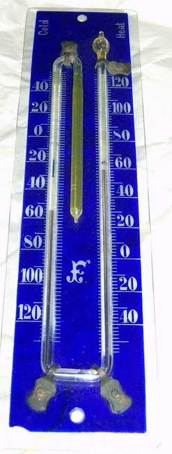 23: Cobalt blue glass thermometer