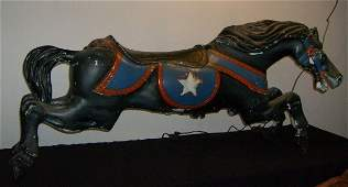 48: Metal carousel horse