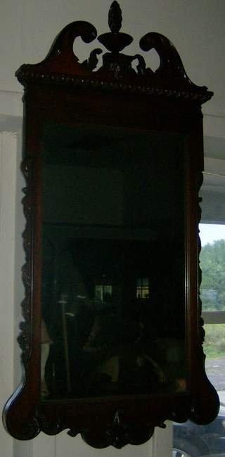 8: Carved Mahogany mirror