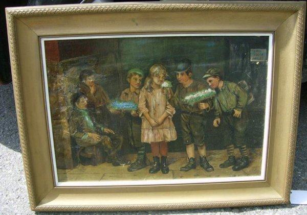 9: Oil on canvas of children