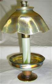 100: Tiffany candle lamp with original chinmey