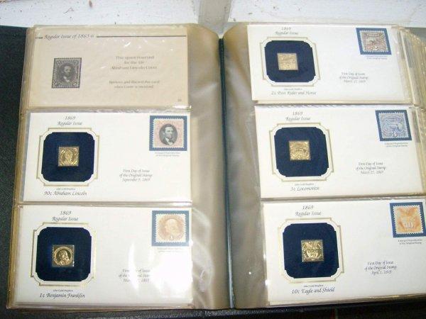 7: Album of Golden Replica of US Classic Stamps