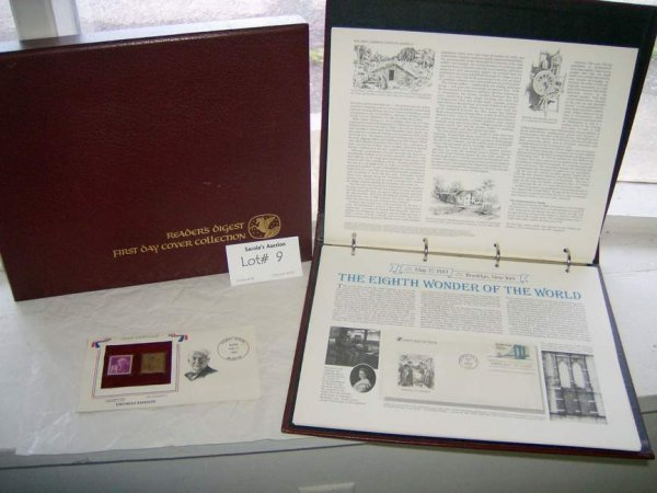 9: 2 albums of Readers Digest First Day cover collectio