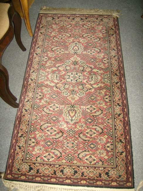 14: Lot of five scatter rugs inc hooked