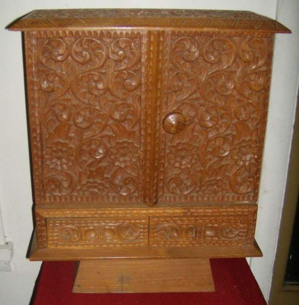 17: Heavily carved Jewelry box