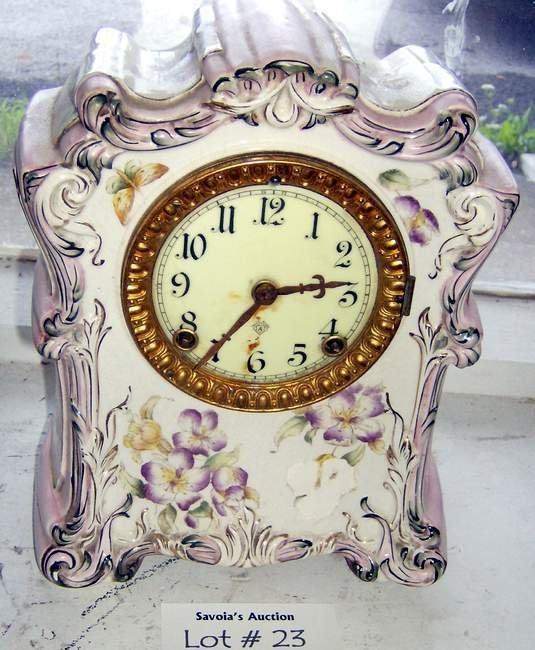 23: Ansonia Clock Co. porcelain clock