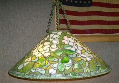 380:  Tiffany Dogwood hanging fixture