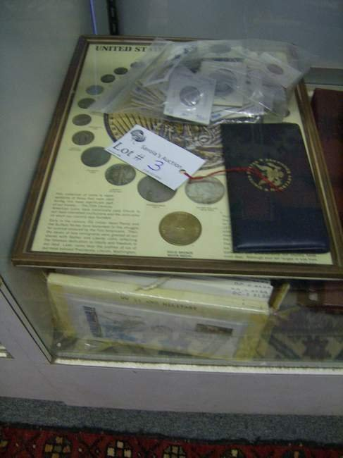 3: Lot of stamps, 1st day covers & coins inc Silver dol