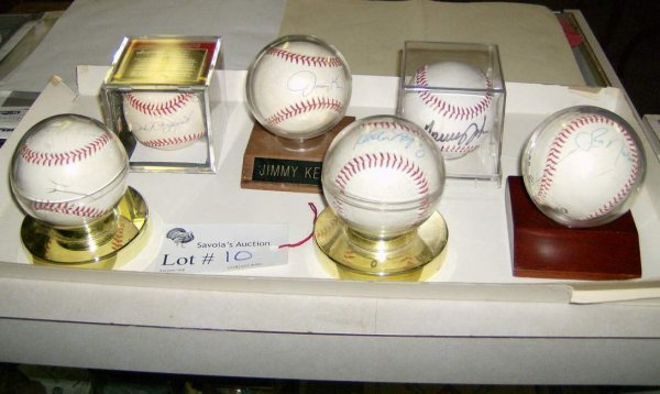 10: Six autographed Star Yankee Baseballs