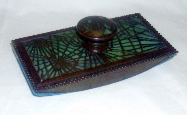 25: Tiffany Studios pine needle blotter # 995