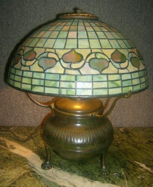 100: Tiffany Studios library acorn lamp