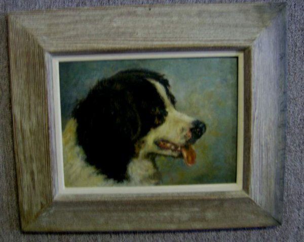 301: Oil on board of a Dog