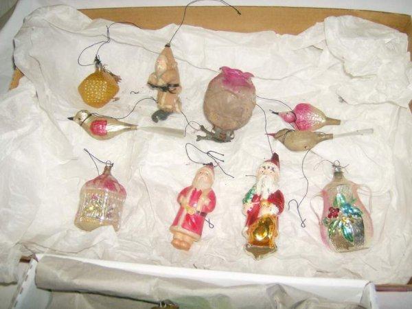 302: Lot of Christmas ornaments inc Kugel, hand blown,