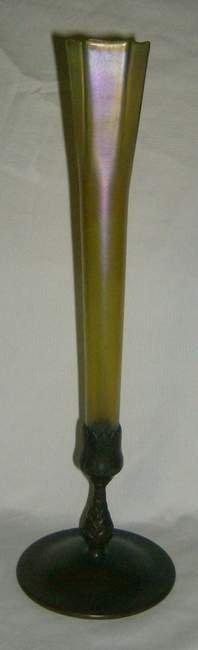"""318: Tiffany bud vase, 16""""h"""