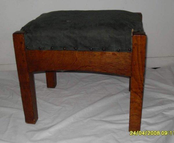 "21: Onondaga Shop footstool # 311, 16""h, 19 1/4""l 15""w."