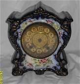 """58: W.L .C Gilbert China Clock,10""""h,  8 3/4""""l, 5""""w"""