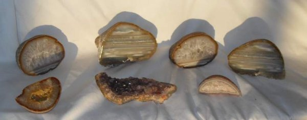 17: Lot of Geodes, amestyst inc bookends
