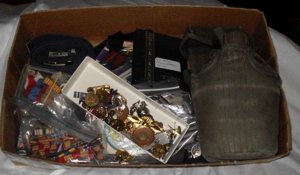 16: Lot of Military pins, metals, etc