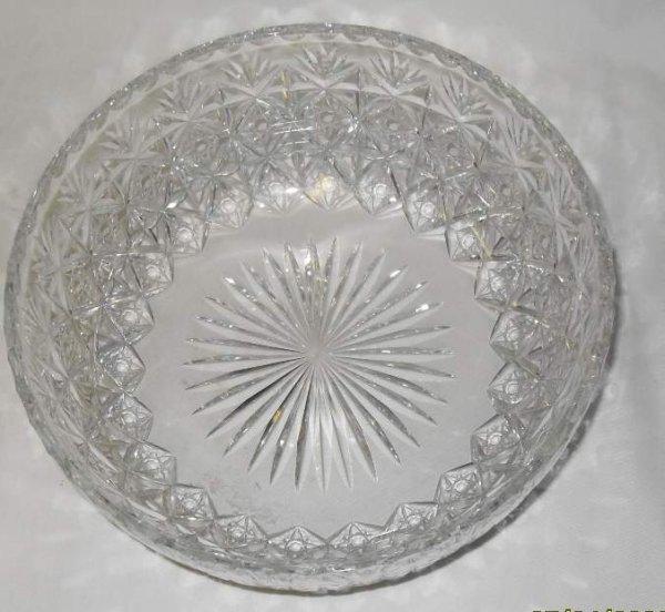 """5: Libbey crystal bowl, 8 /4""""diam, 3 1/4""""h"""