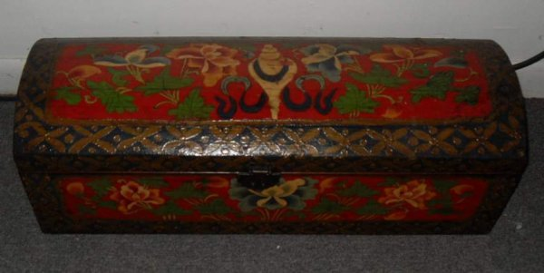 1: Hand painted dome top trunk