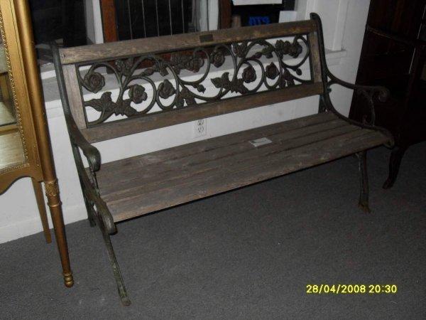 3: Cast iron bench