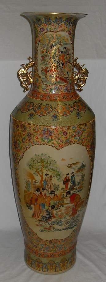 "62A: Large Oriental floor vase, 48""h"