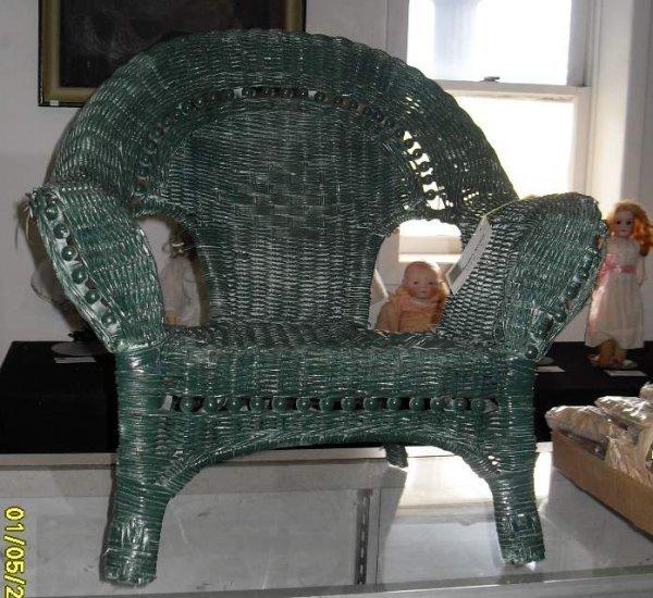 2A: Child's wicker armchair