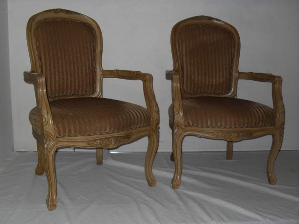 2: Pair of French arm chairs