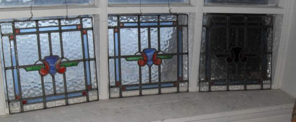 4: Three stained glass windows