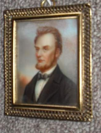 13: Miniature Abe Lincoln painting on ivory