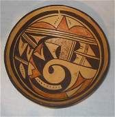 113: Native  American decorated bowl