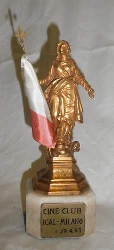 9: 1953 Italian Cinema Bronze on marble base