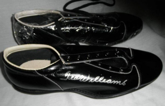 14: Ted Williams Autographed cleats