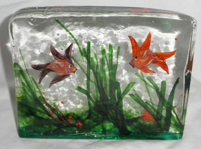 18: Italian Glass Fish Block