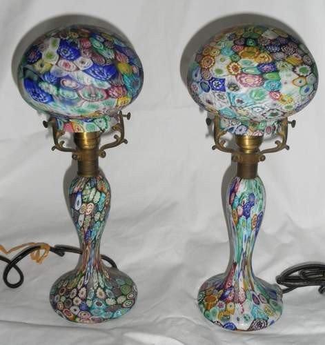 21: Pair of Millifori Boudoir Lamps