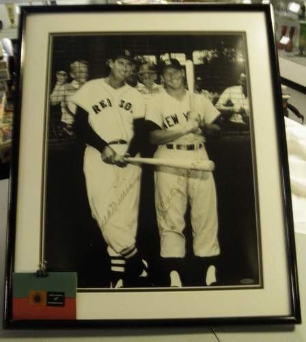 23: Ted Williams & Mickey Mantle Autographed Photo