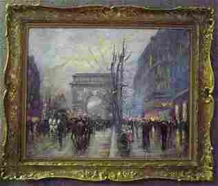 38: Oil on canvas Attributed to Edouard Cortes