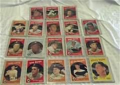 4: Eighteen 1959 Topps New York Yankees