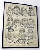 15 Negro League Autographed Lithograph signed by 10 St