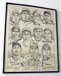 15: Negro League Autographed Lithograph signed by 10 St