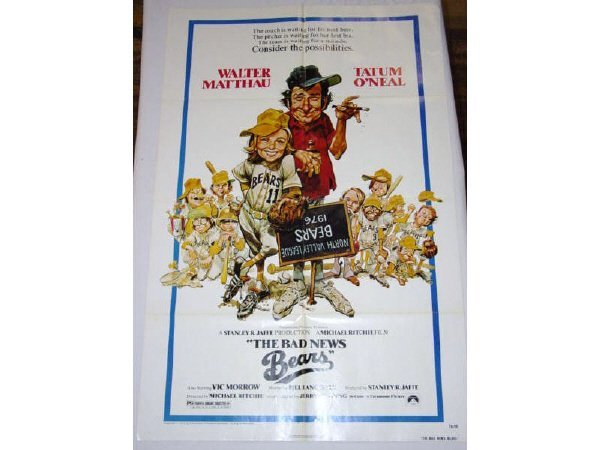 10: 3 - 1 sheet movie posters - The Bad News Bears