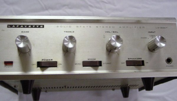 17: Lafayette Solid State Stereo Amplifier Model #