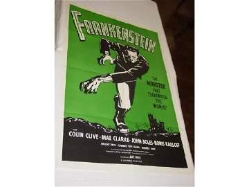 445: Re-Release Frankenstein One sheet movie