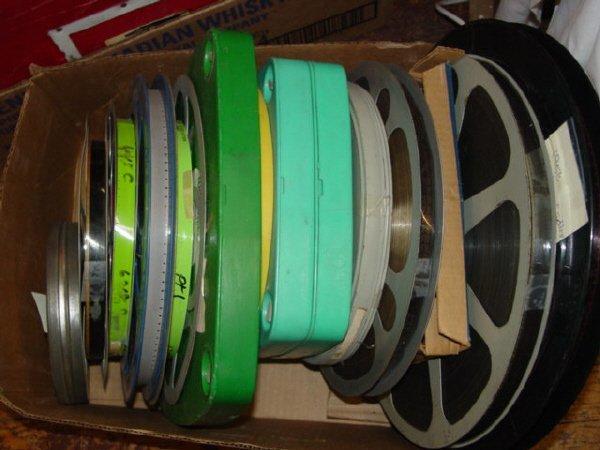 1001: Lot- 16mm Film-Old B&W film 15 min,