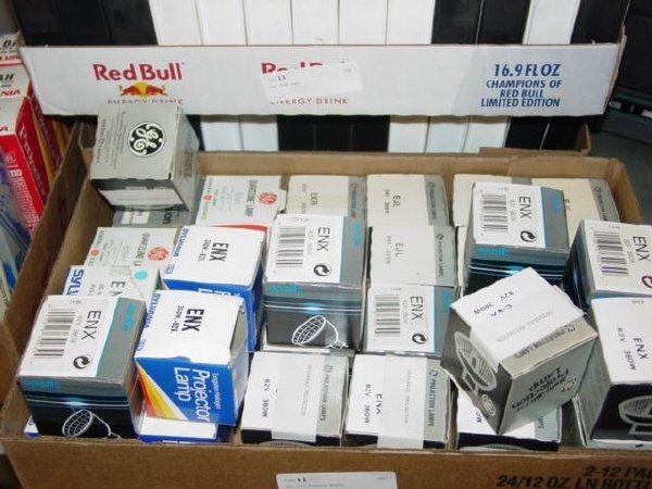 1011: Box Lot- Projector Bulbs-