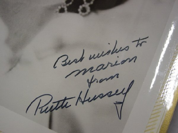 1021: Signed 8 x 10 Glossy of Ruth Hussey