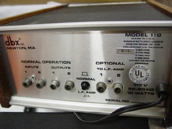 1178: DBX 110 Subharmonic Synthesizer - 2