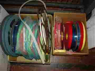 1195: Lot-25 small Reels of Lead Film