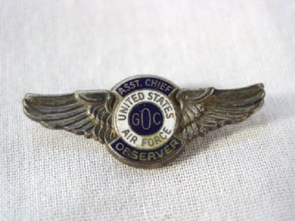 2008: Assistant Chief Observer Wings Pin
