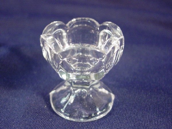 """4: EAPG Fluted footed eye cup 2"""" H X 1 7/8"""" W"""